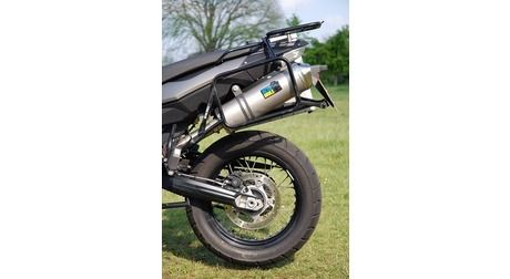BMW F650GS Twin/F800GS Replacement Exhaust System - Satin Titanium