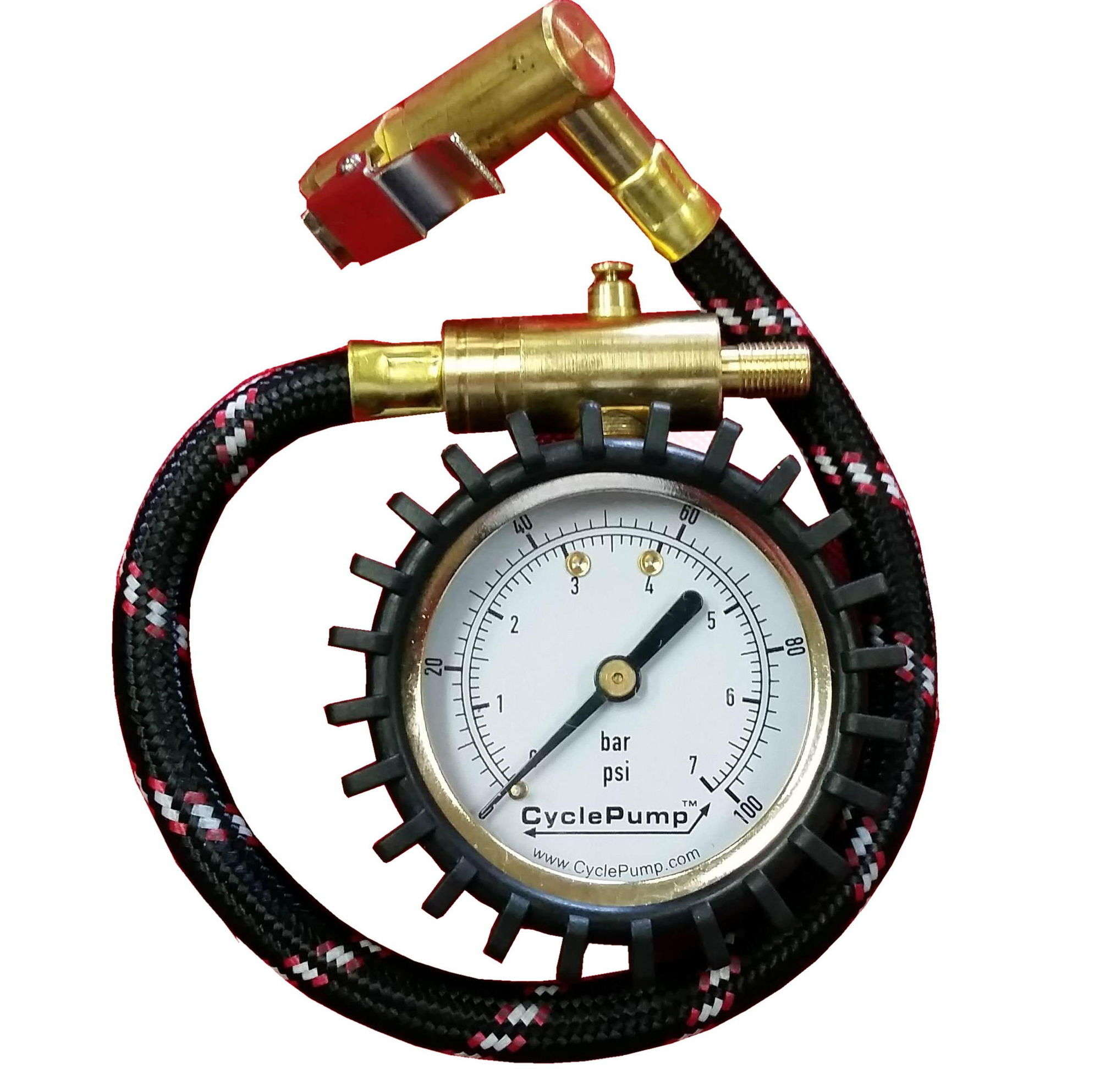Tyre Gauge With Right Angled Connector Chuck